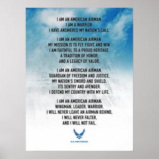Das Kredo U.S.A.F.-Fliegers Poster