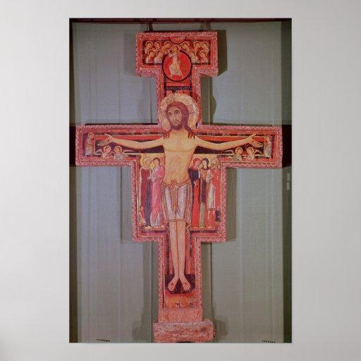 Das Kruzifix von St. Damian Plakat