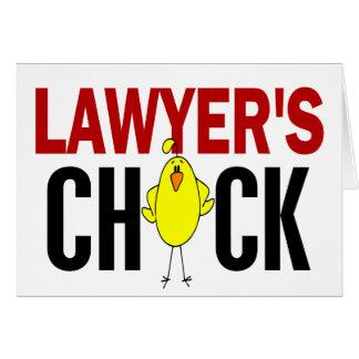 Das Küken des Rechtsanwalts Karte