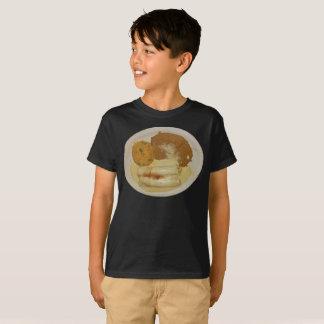 Das Küken-Enchiladas des Kindes mit Refried Bohnen T-Shirt