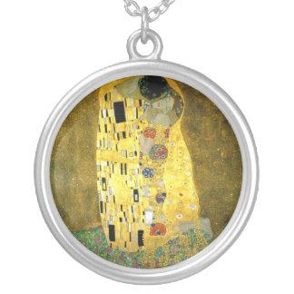 Das Kuss ~ Gustav Klimt Versilberte Kette