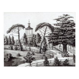 Das Labyrinth vom Jardin des Plantes Postkarte