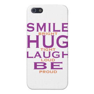 Das Lächeln, das hell ist, umarmt fest, Lachen iPhone 5 Etuis