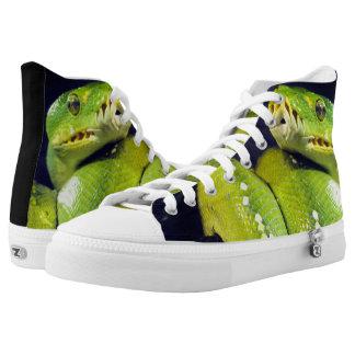 Das Lächeln der Schlange Hoch-geschnittene Sneaker