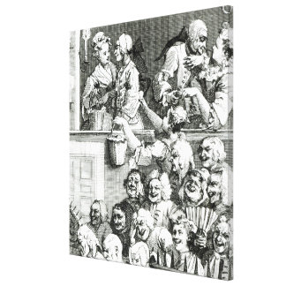 Das lachende Publikum, 1733 Leinwand Druck