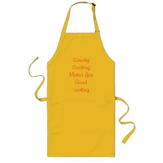 Das Land-Kochen macht Sie schön Lange Schürze
