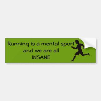 Das Laufen ist ein Geistessport Autoaufkleber