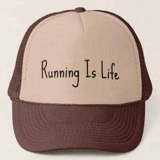Das Laufen ist Leben-Fernlastfahrer-Hut Truckerkappe