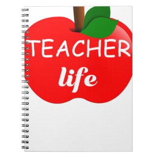 Das Leben Apple, Schulgeschenk des Lehrers für Spiral Notizblock