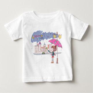 Das Leben des Mädchens: Regnerischer Tag Baby T-shirt