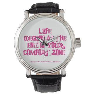 Das Leben fängt am Ende Ihrer Komfortzone an Armbanduhr