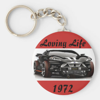 Das Leben-Geburts-Jahr-Schlüsselkette des Mannes Standard Runder Schlüsselanhänger