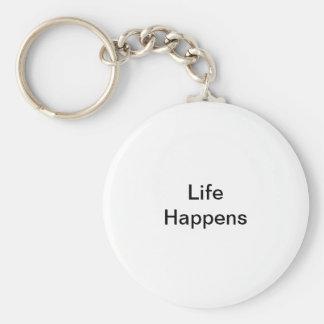 Das Leben geschieht Schlüsselanhänger