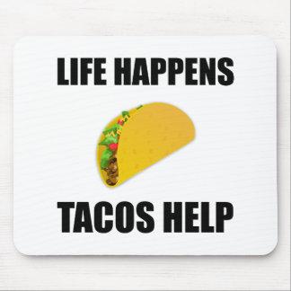 Das Leben geschieht Tacos-Hilfe Mauspad