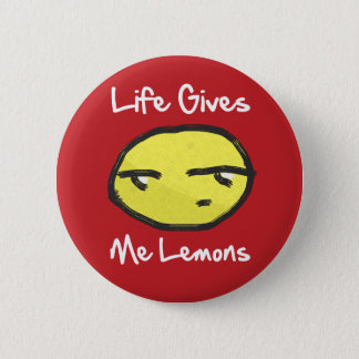 Das Leben gibt mir Zitronen-Knopf Runder Button 5,1 Cm