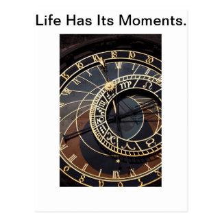 Das Leben hat seine Momente Postkarte