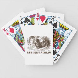 Das Leben ist aber ein Traum (roter König Snoring Bicycle Spielkarten