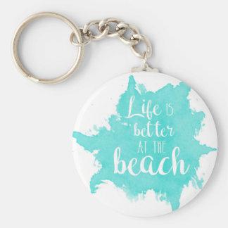Das Leben ist am Strand besser Schlüsselanhänger