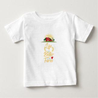 Das Leben ist auf dem Bauernhof besser, der Bauern Baby T-shirt