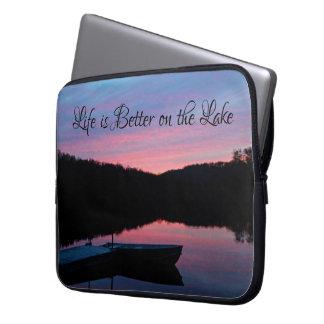 """""""Das Leben ist auf dem See"""" Laptophülse besser Laptopschutzhülle"""