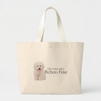 Das Leben ist bessere Bichon Tasche
