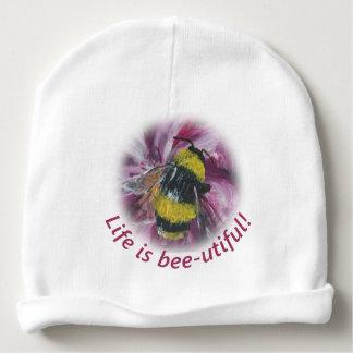 """""""Das Leben ist Biene-utiful"""" Baby Beanie Babymütze"""