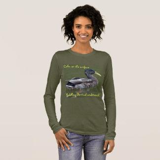 Das Leben ist Ducky Langarm T-Shirt
