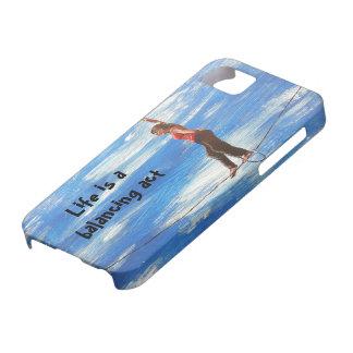 Das Leben ist ein Balanceakttelefonkasten iPhone 5 Schutzhülle