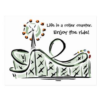 Das Leben ist ein Rollen-Untersetzer. Genießen Sie Postkarte