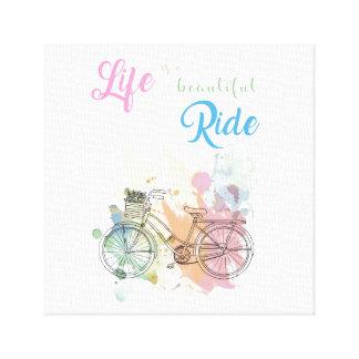 Das Leben ist ein schöner FahrtLeinwand-Druck Leinwanddruck