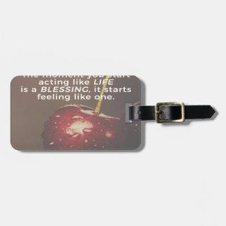 Das Leben ist ein Segen Kofferanhänger