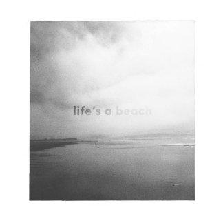Das Leben ist ein Strand - typografisches Notizblock