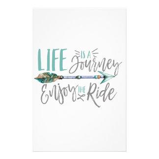 Das Leben ist eine Reise genießen den FahrtBoho Briefpapier