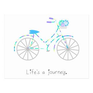 Das Leben ist eine Reise Postkarte