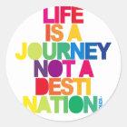 Das Leben ist eine Reise Runder Aufkleber