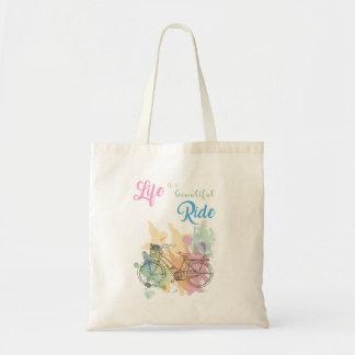 Das Leben ist eine schöne FahrtTaschen-Tasche Tragetasche