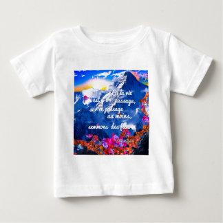 Das Leben ist eine Überfahrt mit Blumen Baby T-shirt