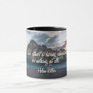 Das Leben ist eine verwegene Abenteuer-Tasse Tasse