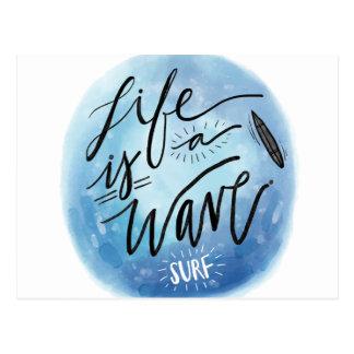 Das Leben ist eine Welle Postkarte
