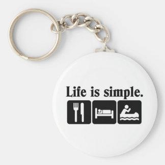 Das Leben ist einfach Standard Runder Schlüsselanhänger