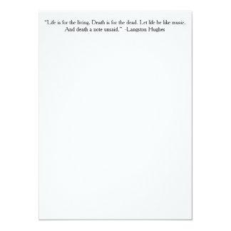 Das Leben ist für das lebende… 14 X 19,5 Cm Einladungskarte