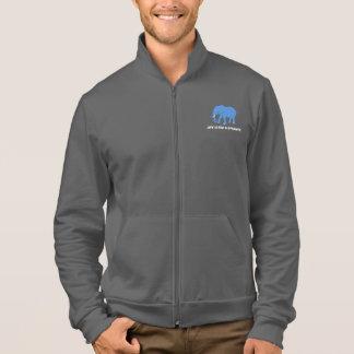 Das Leben ist für Elefant-Fleece-Rüttler-Jacke Jacke