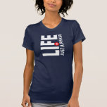 Das Leben ist gerade ein Phasen-(dunkler) T - Shir