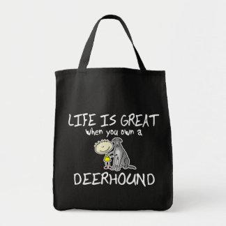 Das Leben ist großes Deerhound Einkaufstasche