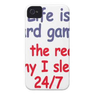 Das Leben ist hartes Spiel, es ist der Grund, Case-Mate iPhone 4 Hülle