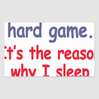 Das Leben ist hartes Spiel, es ist der Grund, Rechteckiger Aufkleber