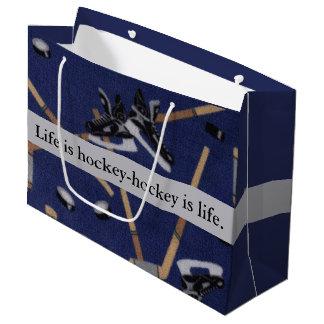 Das Leben ist Hockey Große Geschenktüte