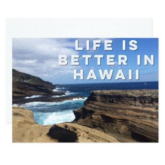 Das Leben ist in der Hawaii-Einladungs-Karte Karte