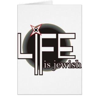 Das Leben ist jüdisch Karte