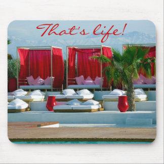 """Das Leben"" ist, Marokko-Luxus Poolside Mauspad"
